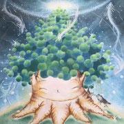 宇宙と繋がる癒しの樹