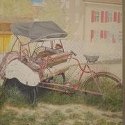 """""""Need a Taxi...?"""" Öl auf Leinwand / 100 x 80 cm / 2019----CHF 2'000----"""