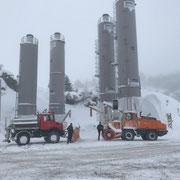 Schneeräumung für ÖBB Baustelle Spullersee, U1600 und Rolba 1500. Dezember 2019