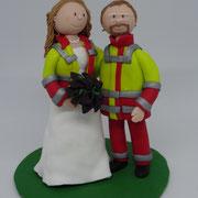 Tortenfigur Brautpaar Santäter