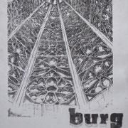 burg  - Münsterturm / Polymerradierung 2019