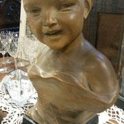Ancien buste enfant plâtre