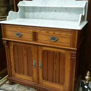 table de toilette ancienne en pin