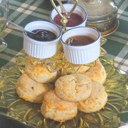Chedder & Sage Biscuts with Homemade Jams