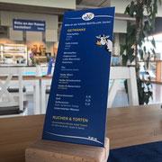 Tischaufsteller Hemme Milch Hofcafé