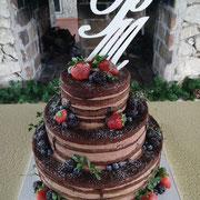 pastel boda naked cake