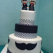 pastel boda gay bigotes