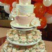 pastel y cupscakes boda