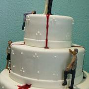 pastel boda zombie