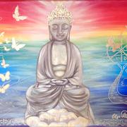 """Buddha"" Acryl 40x80"