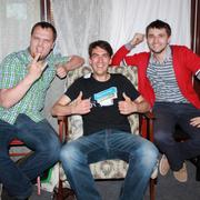 Маттиас с довольными пользователями Jimdo :)
