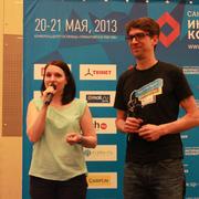 Маша и Маттиас на конференции СПИК 2013