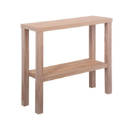 Arrimo color madera Natural / REF: MUE-0   / Medidas: 90x30x78 cms. / Arriendo: $ 12.000 / Garantía: $ 40.000
