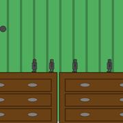Die Spieler steuern ein Spielzeugroboter und müssen den Flummibällen ausweichen.