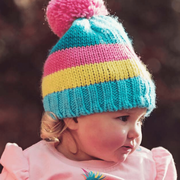 Bobble Hat Pastel Stripe