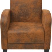 poltrona divano soggiorno industrial style used look similpelle cuoio