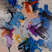 INGEBORG PORSCH, o. T., Acryl auf Leinwand, 100 x 80 cm