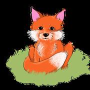 kleiner digital gezeichneter Fuchs als Auftragsarbeit