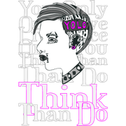 Motiv: Think than Do / pink