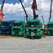 Kundenfahrzeuge der Firma Willy Dornbierer Transport AG