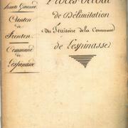 Procès verbal de délimitation de la commune en 1818 page 1