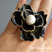 П-889. крупное кольцо от американского дизайнера Кеннет Джей Лэйна. Позолота 24К, авторские эмали, ручная работа. Клеймо дизайнера. ПОВТОР ПОД ЗАКАЗ