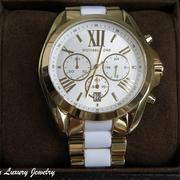 П-1231. Женские наручные часы от американского дизайнера MICHAEL KORS Кварцевый механизм, браслет выполнен из нержавеющей стали с позолотой 24К, декор камнями Сваровски. Водонепроницаемые-5атмф.