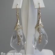 П-1054Роскошные дизайнерские серьги от вcемирно известного ювелира Алекса Биттара. Позолота 24К, камни Swarovski