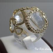 П-1055.Роскошное дизайнерское кольцо от всемирно известного ювелира Алекса Биттара. Позолота 24К, камни Swarovski. ПОВТОР ПОД ЗАКАЗ