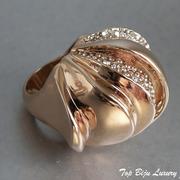П-1178. Роскошное дизайнерское кольцо от вcемирно известного ювелира Алекса Биттара. Позолота розовым золотом 24К, камни Swarovski.