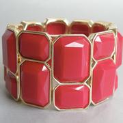 П-1307. Стретчевый браслет от американского дизайнера Роберто Грациано. Ювелирный сплав, декор крупными вставками. Подойдет на любое запастье. Гипоаллергенный сплав, маркировка дизайнера.