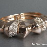 П-1179. Роскошный дизайнерский браслет от вcемирно известного ювелира Алекса Биттара. Позолота розовым золотом 24К, камни Swarovski.