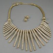 """П-1574. Дизайнерский комплект """"Stella and Dot"""". Ювелирный сплав под золото, кристаллы Сваровски."""