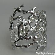 """П-1172. Браслет """"Коралловый риф"""" от американского дизайнера Кеннет Джей Лэйна. Ювелирный сплав металлов с серебром и родием, клеймо автора, США, ручная работа"""