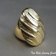 П-1012Дизайнерское кольцо. Ювелирный сплав с позолотой 22К. ПОВТОР ПОД ЗАКАЗ