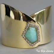 П-1248. Браслет от вcемирно известного ювелира Алекса Биттара. Позолота 24К, драгоценные камни, камни Swarovski. Полностью ручная работа, клеймо дизайнера.