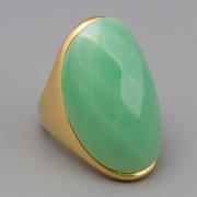 """П-1138. Кольцо """"Lux green"""", Kenneth Jay Lane, флекс-размер от 15 до 18. Ювелирный сплав металлов, позолота 18К, ювелирный акрил, ручная работа, клеймо автора, США."""