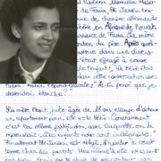 Biografie von Fasia Jansen in Französisch.