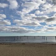 ヴェネチアン・ショアーズ・パークから見た海。