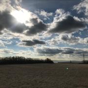 ヴェネチアン・ショアーズ・パークの浜辺。ジョシュやパールが見ていたのと同じ景色。