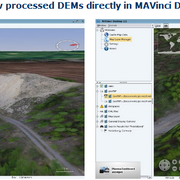 An example of MAVinci3D mapping