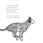 'Beelddenker'. Gedichtje + linosnede.