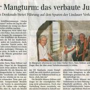 Lindauer Zeitung  9.September 2015: Mangturm - das verbaute Juwel