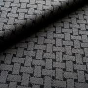 Flechtmuster grau/schwarz