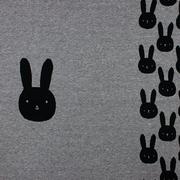 Bunny Panel grau/schwarz