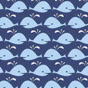 Whales blue