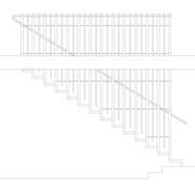 Zeichnung Treppe mit Handlauf