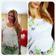 """Bárbara, guapísima con la camiseta """"Flores son Amores"""". Gracias por la inspiración!"""