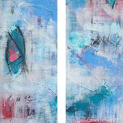 """Im Auge Des Betrachters"" - 2x 20x80x2 cm - verkauft"