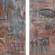 """""""Mediterrano"""" - 2x 60x80x3,5 cm - Auftragsarbeit verkauft"""
